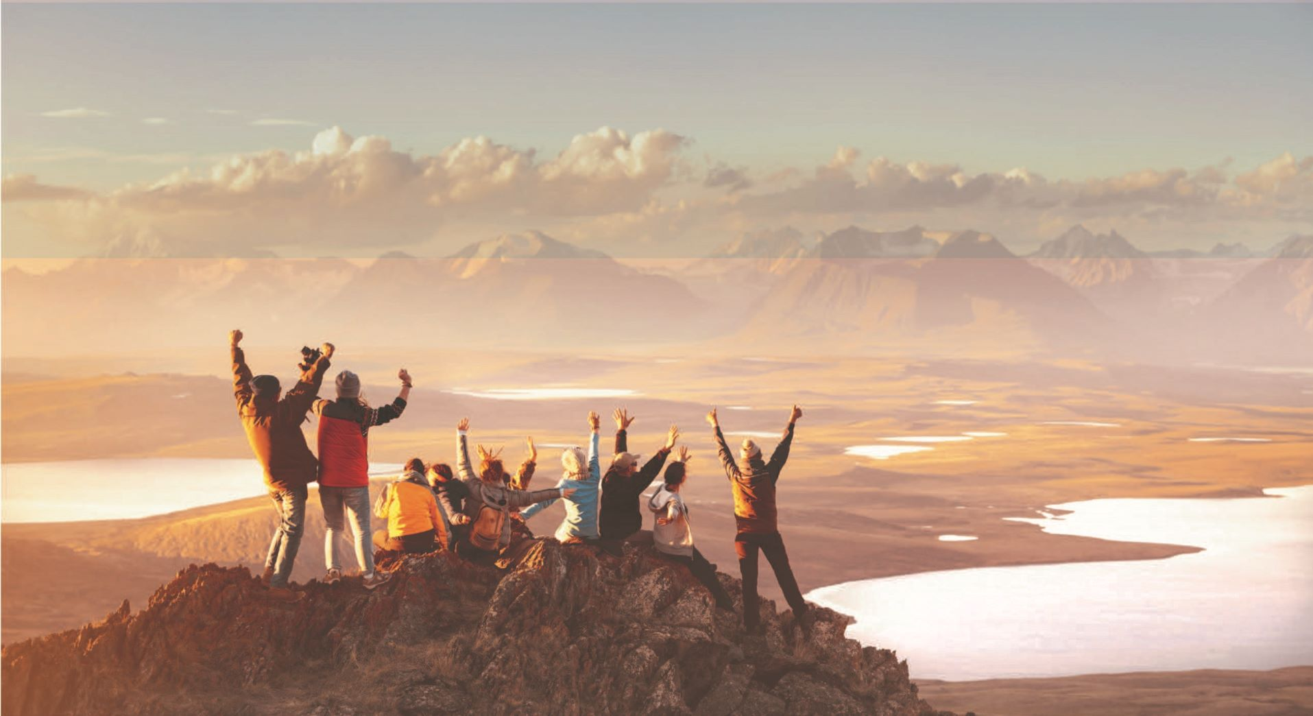 people on mountain top