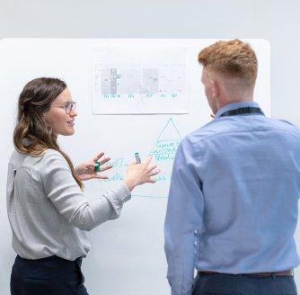 Discussing an idea